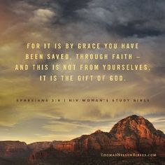 For it is by grace you have been saved, through faith—and this is not from yourselves, it is the gift of God—not by works, so that no one can boast. [ Ephesians 2:8-9 NIV ]