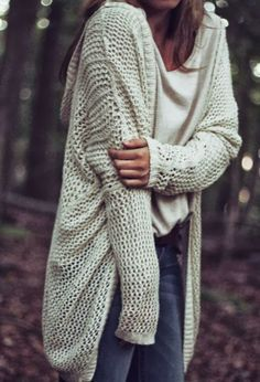 Cute casual fall fashion with oversized cardigan