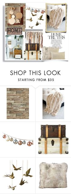 """""""Home sweet home"""" by theworldisatourfeet ❤ liked on Polyvore featuring interior, interiors, interior design, home, home decor, interior decorating, Fabulous-Furs, DwellStudio, Dot & Bo and Jayson Home"""