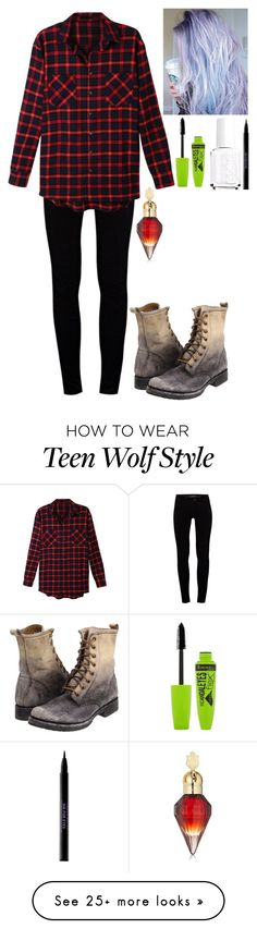 """""""Alice Stilinski (New Teen Wolf FF)"""" by myanoelle on Polyvore featuring J Brand, LE3NO, Frye, Rimmel, Essie and Urban Decay"""
