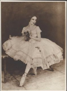 Famous Russian ballerina Anna Pavlova as the title character in the ballet Giselle.