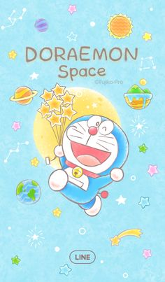 LINE Themes,Doraemon (Space),Fujiko-Pro,Blast off into fun times with Doraemon! Doraemon Wallpapers, Cute Cartoon Wallpapers, Hello Kitty Wallpaper, Kawaii Wallpaper, Dora Wallpaper, Anime Fnaf, Kawaii Anime, Chibi, Doremon Cartoon