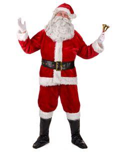 Homme Noël Santa Veste /& Cravate Père Noël Costume Robe Fantaisie