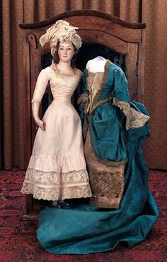Antique Doll and her gorgeous dress!