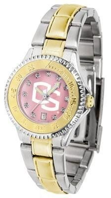Oregon State Beavers Ladies Watch Mother-of-Pearl Two-Tone Watch by SunTime. $99.95. Mother-Of-Pearl with Swarovski Crystal Indexes. Stainless Steel Band with Gold plated Inlay. Officially Licensed Oregon State Beavers Women's Two Tone Dress Watch. Women. Links Make Watch Adjustable. Oregon State Beavers Ladies Watch Mother-of-Pearl Two-Tone Watch. This Beavers watch has a functional rotating bezel that is color-coordinated to compliment your favorite team logo. The C...