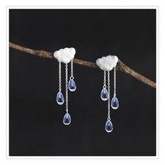 crystal tassels earrings