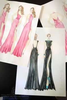 Endless sketching in the studio today. xx KIMBERLEY WOODWARD DESIGNS.