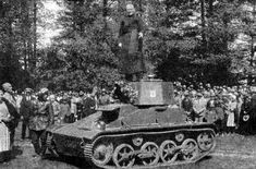 Celebrations on the occasion of receiving the Lithuanian army tanks Vickers, 1936 Interwar Period, Military Equipment, Military Vehicles, Ww2, Tanks, Celebrations, 1950s, Army, Steel