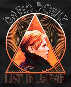 David Bowie Live In Japan t-shirt close-up. Angela Bowie, David Bowie Art, David Bowie Ziggy, Rock Posters, Band Posters, Duncan Jones, Bowie Low, Bowie Tattoo, Moonage Daydream