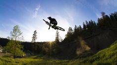 #mtb #nema #spencergraf Spencer Graf in flight. Photo Matt Butterworth - Nema MTB
