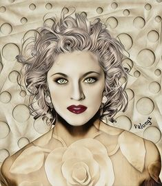 Portrait of Madonna Madonna Art, Bike Photography, Divas, Pop Art, Facial, Singer, Portrait, Celebrities, Awesome