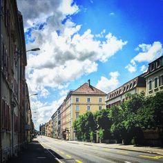 #sky #clouds #blue #street #latchaux #neuchatel #switzerland