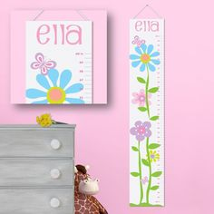 Personalized Girls Growth Chart - Personalized Height Charts