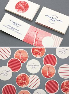 The Top 16 Food Business Cards - Design Ideas || Coaster and business card design for Ingierstrand Bad Restaurant – by Uniform