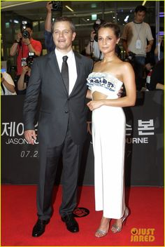 Matt Damon & Alicia Vikandar Continue 'Jason Bourne' Press In South Korea!: Photo #3701503. Matt Damon is dapper in a suit while attending the premiere of his new film Jason Bourne held on Friday (July 8) in Seoul, South Korea.    The 45-year-old actor…