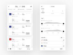 Flights results by Nash[At]Work #Design Popular #Dribbble #shots