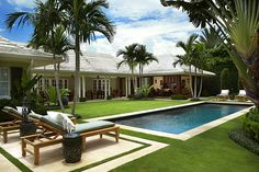 Outdoor Patio Ideas Florida Beach Houses 15 New Ideas Backyard Pool Designs, Swimming Pools Backyard, My Pool, Pool Landscaping, Home Building Design, Building A House, House Design, Modern Villa Design, Courtyard House