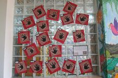 Aboriginal hand cave paintings classroom display photo - Photo gallery - SparkleBox