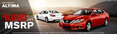Get $6000 OFF MSRP on the 2017 Nissan Altima. Find Your Today! http://www.billgattonnissan.net/searchnew.aspx?Year=2017&Model=Altima