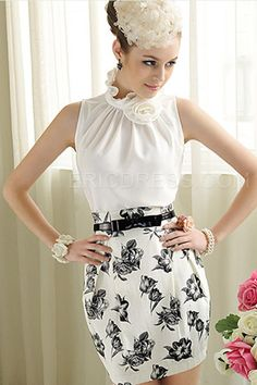 White Lace Flowers Slim All-matched T-shirt 2