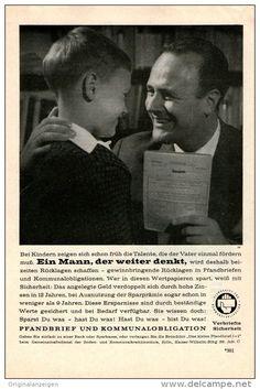 Original-Werbung/Inserat/ Anzeige 1960 - PFANDBRIEF UND KOMMUNALOBLIGATION ca. 140 X 220 mm