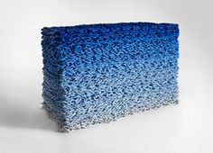 Orly Genger, Untitled Stack (Blue Gradient), 2011