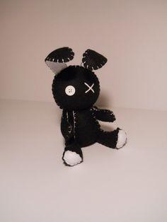 Sentía poco goth negro bunny conejo peluche por SouthernGothica