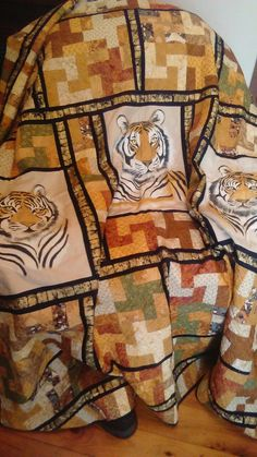 Designed by myself with hand painted Tiger panels.