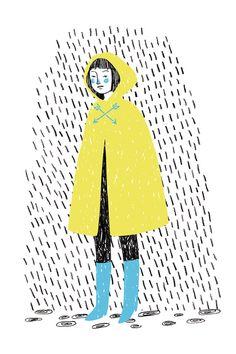 rainy day illustration