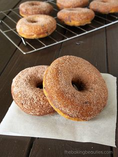 Gluten Free Baked Pumpkin Chocolate Chip Doughnuts--try it with flaxseed in place of eggs and carob in place of  chocolate.