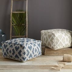 Metallic Diamond Pouf