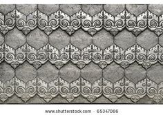 stock photo : Material Roof,wall and ancient tile  Thai silver pattern Crafts world. Thai Lanna style. Delicate style is timeless and powerful. Chiang Mai, Thailand.