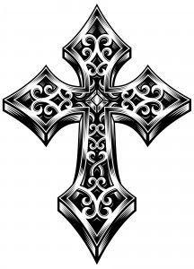 Free Cross Tattoo Patterns