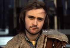 Rock and pop singer songwriter and musician Phil Collins poses for a portrait on November 20, 1973 in New York City, New York.