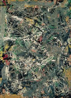 reblololo:    JACKSON POLLOCK (1912-1956) Untitled, c. 1949 Paper, enamel and aluminium paint on fiberboard 78,5 x 57,5cm Fondation Beyeler, Riehen/Basel © VBK, Wien 2010 Foto: Robert Bayer, Basel
