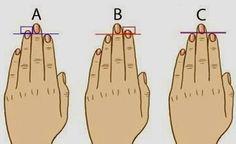 Кто бы мог подумать что узнать секреты характера можно всего лишь взглянув на руку? Ученые из университета Кембриджа (и снова эти Британские Ученые) провели статистические исследования и выяснили интересные факты. Посмотрите на свою руку и сравните длину указательного и безымянного пальцев. A) Указательный палец короче чем безымянный. Такие люди чаще всего внешне весьма привлекательны. Они […]