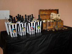 Party favor table for Jake and the Neverland Pirates party!!