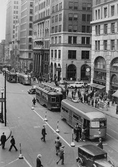 #TrolleyTuesday Court Street Brooklyn Heights 1938