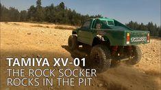 Tamiya XV 01 - The Rock Socker rocks in the Pit
