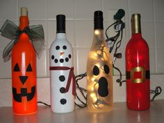 holiday wine bottle lights