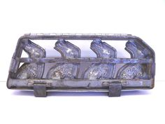 Antique Iron Easter Bunny Chocolate Candy Mold Heavy 1920's