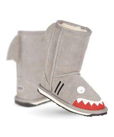 Love this Putty Shark Little Creatures Suede Boot - Kids by EMU Australia on #zulily! #zulilyfinds