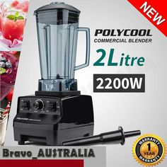 NEW 2L Commercial Blender - Mixer Juicer Food Processor Smoothie Ice Crush