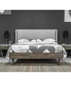 King Beds, Queen Beds, Rustic Side Table, Wood Headboard, Tufted Headboards, Wooden Slats, Acacia Wood, Simple Designs, Beams