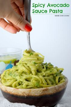 Easy 15 mins creamy delicious avocado sauce pasta. A perfect light summer meal!