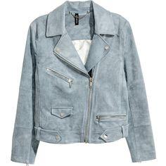 Imitation suede biker jacket 299 AED ❤ liked on Polyvore featuring outerwear, jackets, collar jacket, moto jackets, lapel jacket, blue motorcycle jacket and blue biker jacket