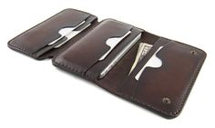 ITALIAN - iPhone 5s/5 - Leather Wallet. CLOSED model. Carefully handmade in Italy. Personalizable.