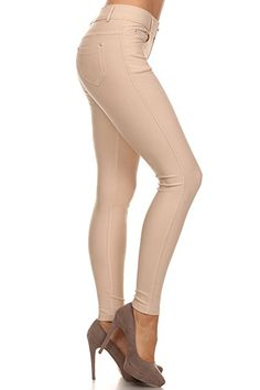 3b4d00bf858  14.99 Long Jeggings for Women Skinny Stretch Fitted Pull On Jeggings Pants