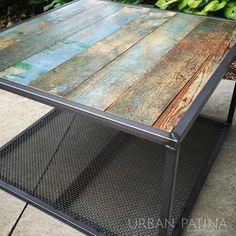 Urban Patina: Rescued Relics + Upcycled Junk: Industrial Coffee Table
