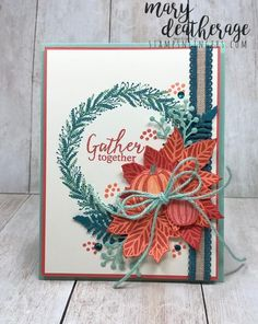 Mary Deatherage, Independent Stampin' Up! Demonstrator in Fayetteville, Georgia (Atlanta).Let's make some cards! Fall Cards, Holiday Cards, Christmas Cards, Christmas Holiday, Hand Gestempelt, Stamping Up Cards, Some Cards, Thanksgiving Cards, Halloween Cards